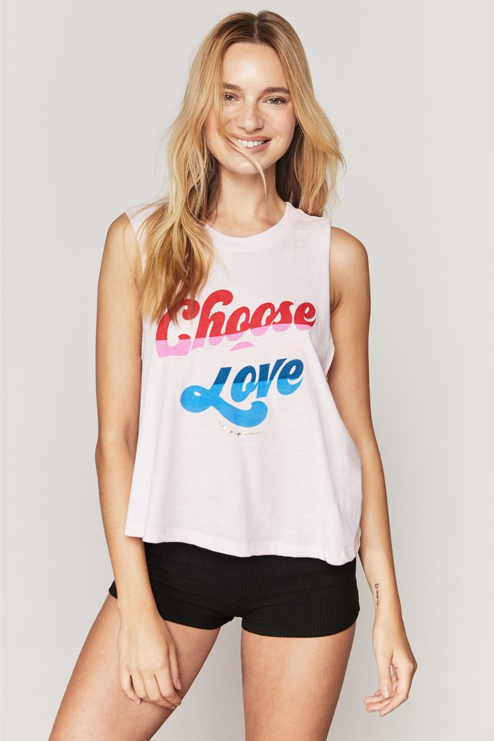 Load image into Gallery viewer, Spiritual Gangster Choose Love Crop Tank