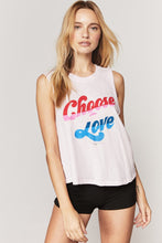 Load image into Gallery viewer, Spiritual Gangster Choose Love Crop Tank | Womens
