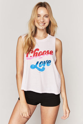 Choose Love Crop Tank