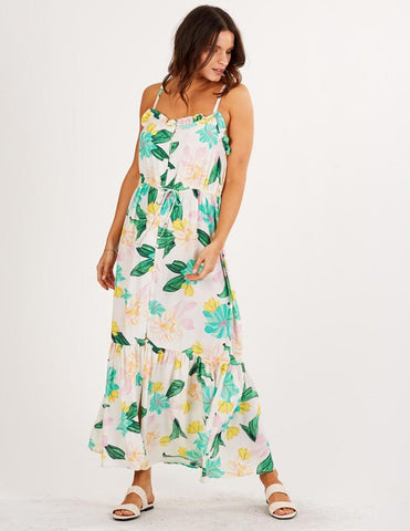 Mindy Midi Dress in Tropical from Cleobella Women's Midi Dress