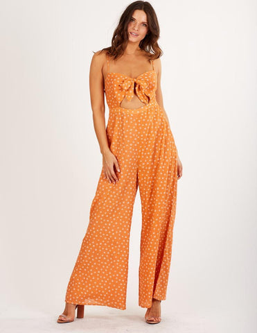 Women's Printed Jumpsuit The Skyler Jumpsuit in Copper by Cleobella