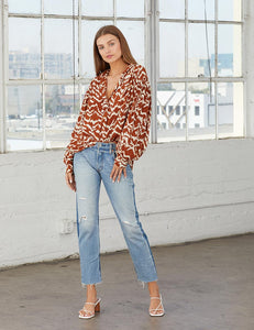 Cleobella Cove Blouse Ginger | Women's Boho Tops