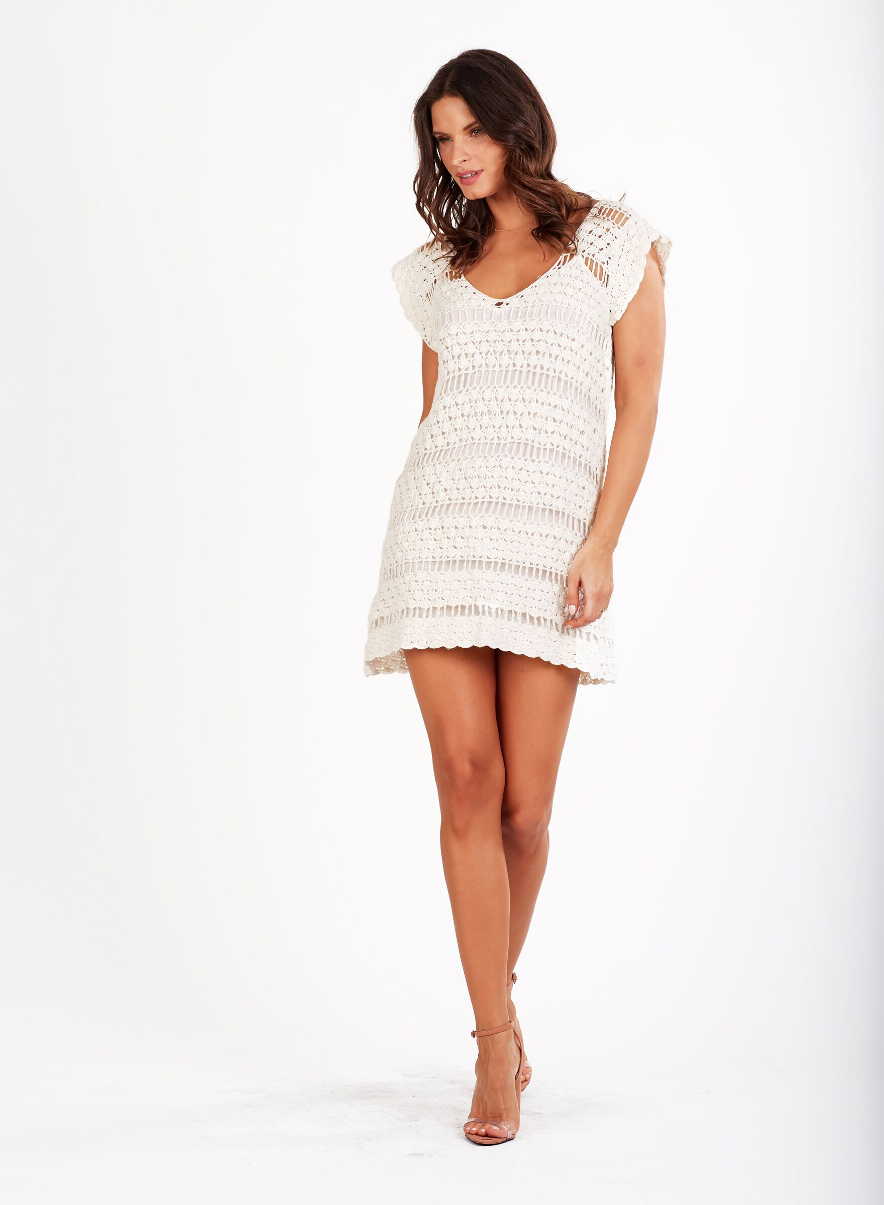 Load image into Gallery viewer, Miah Kafta Dress Ivory Cleobella