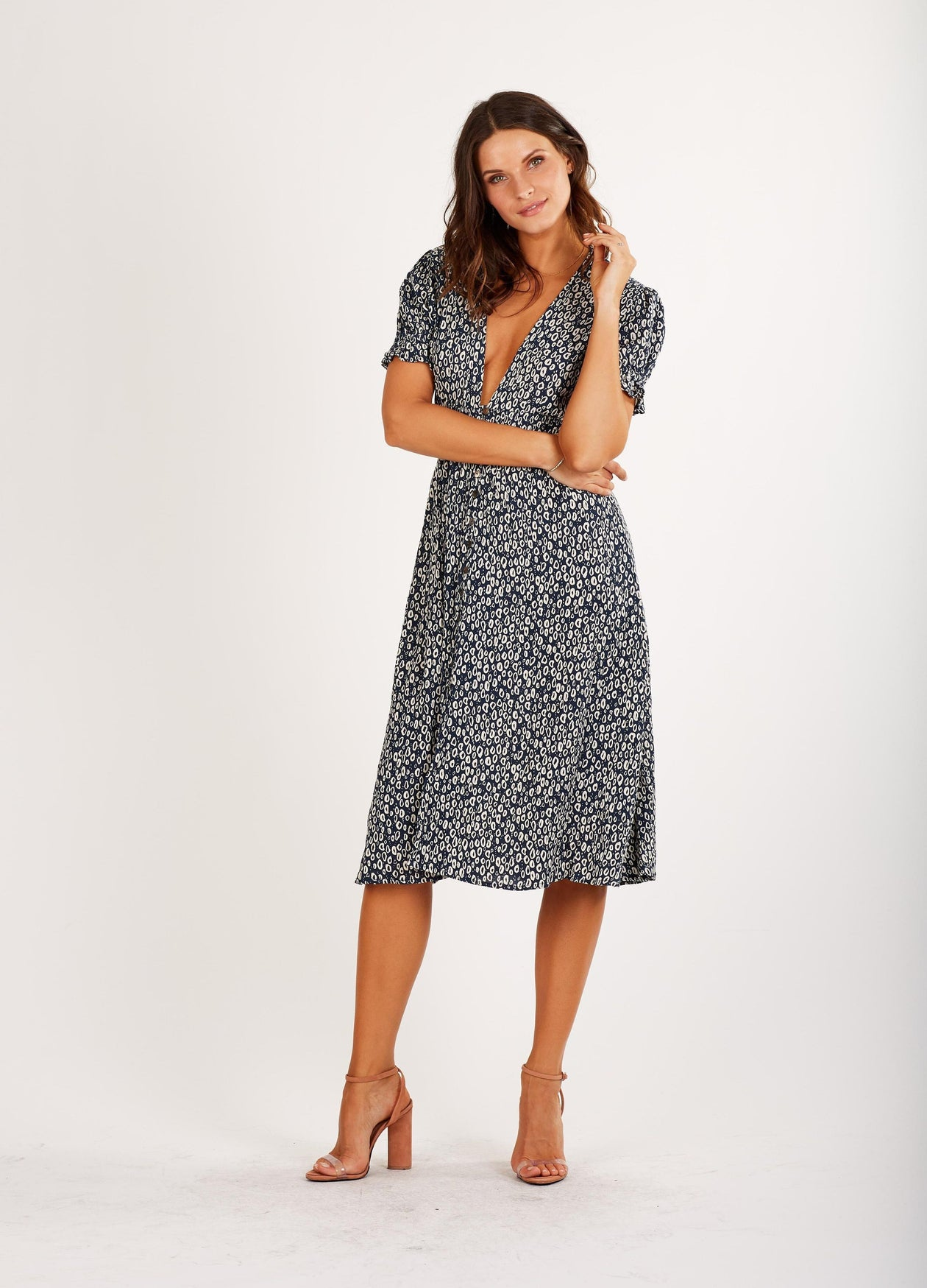 Violeta Ankle Dress Cleobella Navy