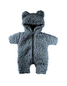 Winnie's Jumpsuit in Fake Fur - Gray | Organic Doll Clothing