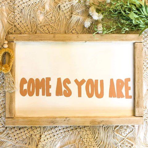 Come As You Are Framed Wall Art
