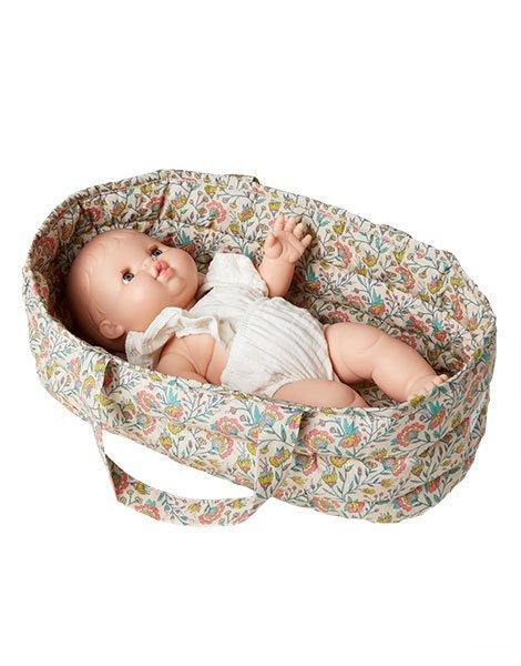 Gordis cotton bassinet Flowers in Liana with its pillow