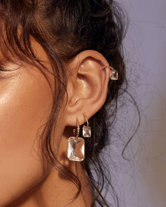 Crystalline Hoops - Gold