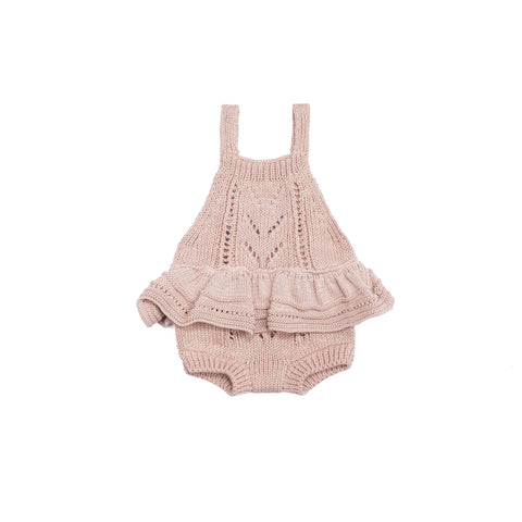 Ruby Ruffle Bodysuit Old Rose