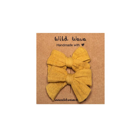 Wild Wawa Bow Clip Set Honey