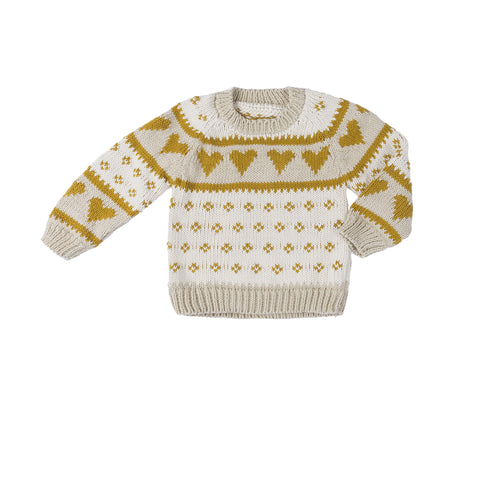 Love Sweater - Oatmeal Mustard