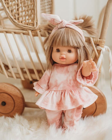 Dollie Headband, Top & Legging Set- Pink Sand