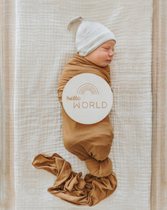 Oatmeal Ribbed Beanie | Brixton Phoenix - Newborn Clothing & Accessories