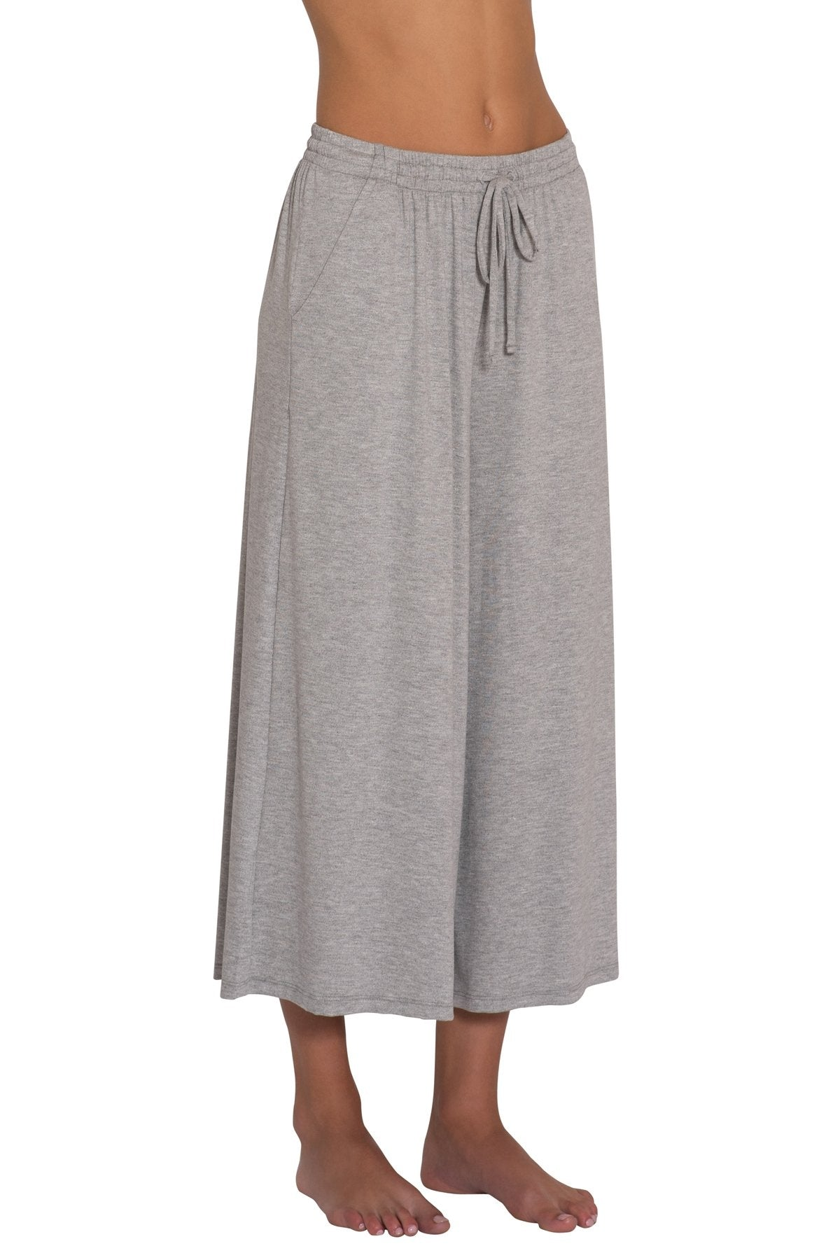 Darby Cropped Wide Leg Pants - Heather Grey | Eberjey - Women's Loungewear