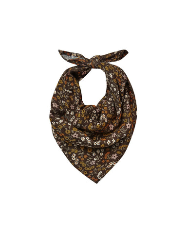 Dark Floral Neck Scarf