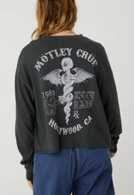 Load image into Gallery viewer, Motley Crue Hollywood Long Sleeve Crop - Vintage Black | Daydreamer LA - Women's Clothing