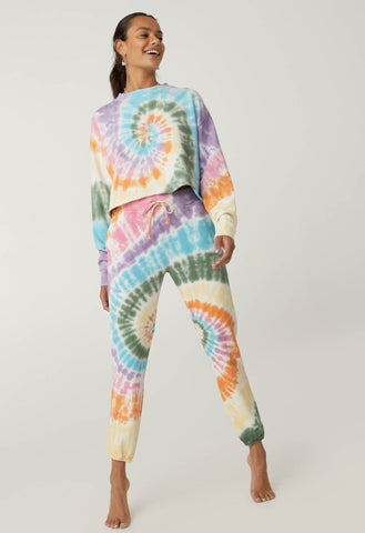 Rainbow Tie Dye Sweat Pant - Rainbow Spiral