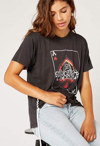 DayDreamer Aerosmith Ace Lace Up Tee