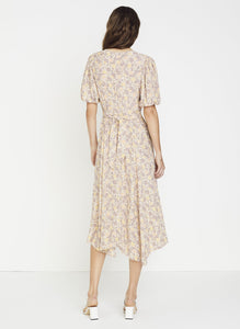 Delia Midi Dress in Zoella Floral Print Dusk by Faithfull The Brand | Printed Dresses