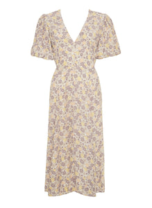 Delia Midi Dress in Zoella Floral Print Dusk by Faithfull The Brand | Womens