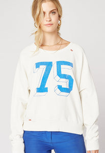 DayDreamer Dream Crew Varsity Crew Sweatshirt | White Sweatshirts