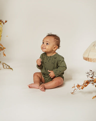 Woods Dash Romper - Forest