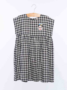 Dulcie Dress in Black Check from Wander & Wonder