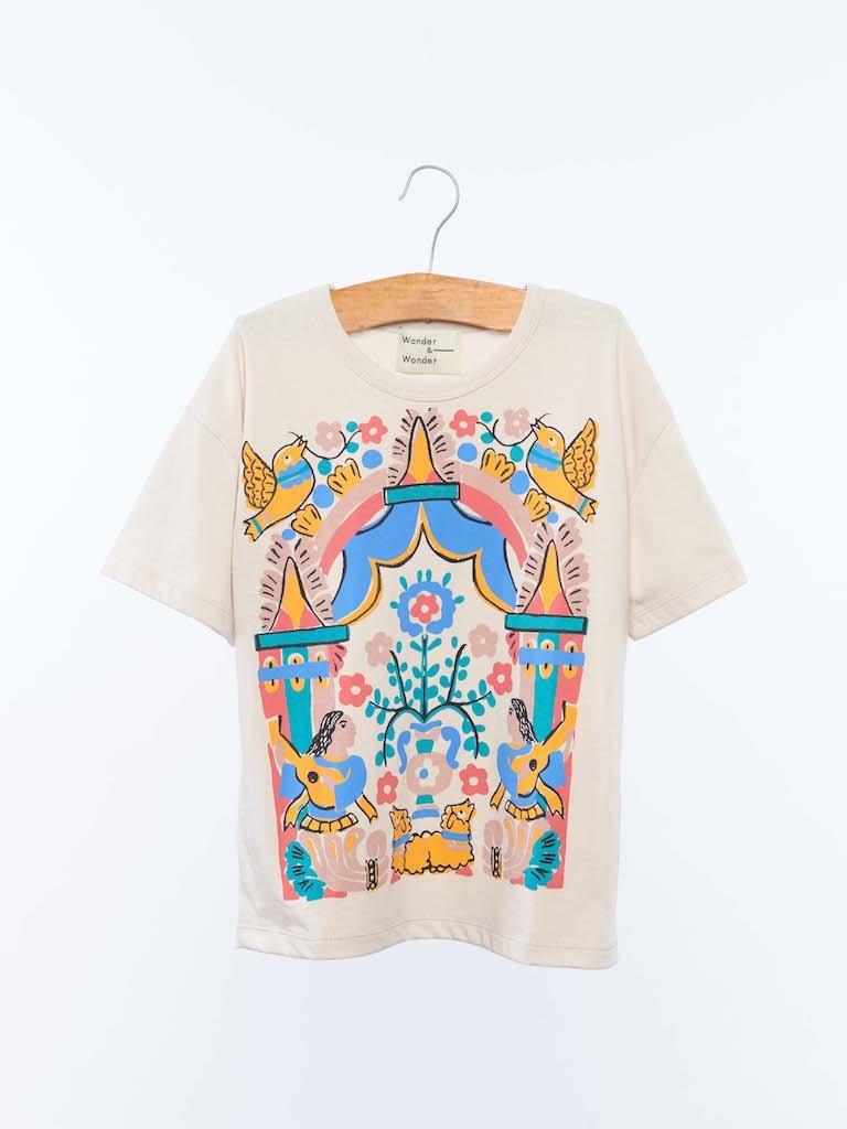 Load image into Gallery viewer, Floral Tee in Cream from Wander & Wonder - Bohemian Mama