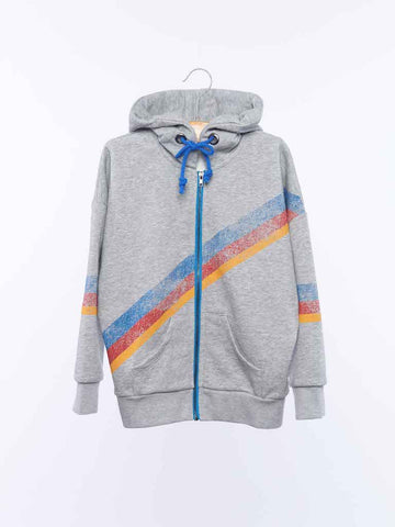 Zip Up Hoodie - Grey