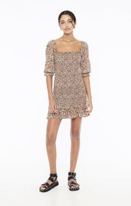 Faithfull The Brand Es Saada Mini Dress - Mathiola Floral Print