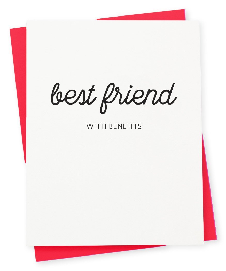 Best friend with benefits Valentine's Day card from 417 Press