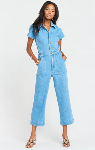 Show Me Your Mumu Emery Jumpsuit French Blue
