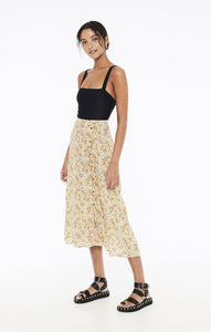 Le Jean Skirt in Zoella Floral by Faithfull The Brand | Midi Skirts