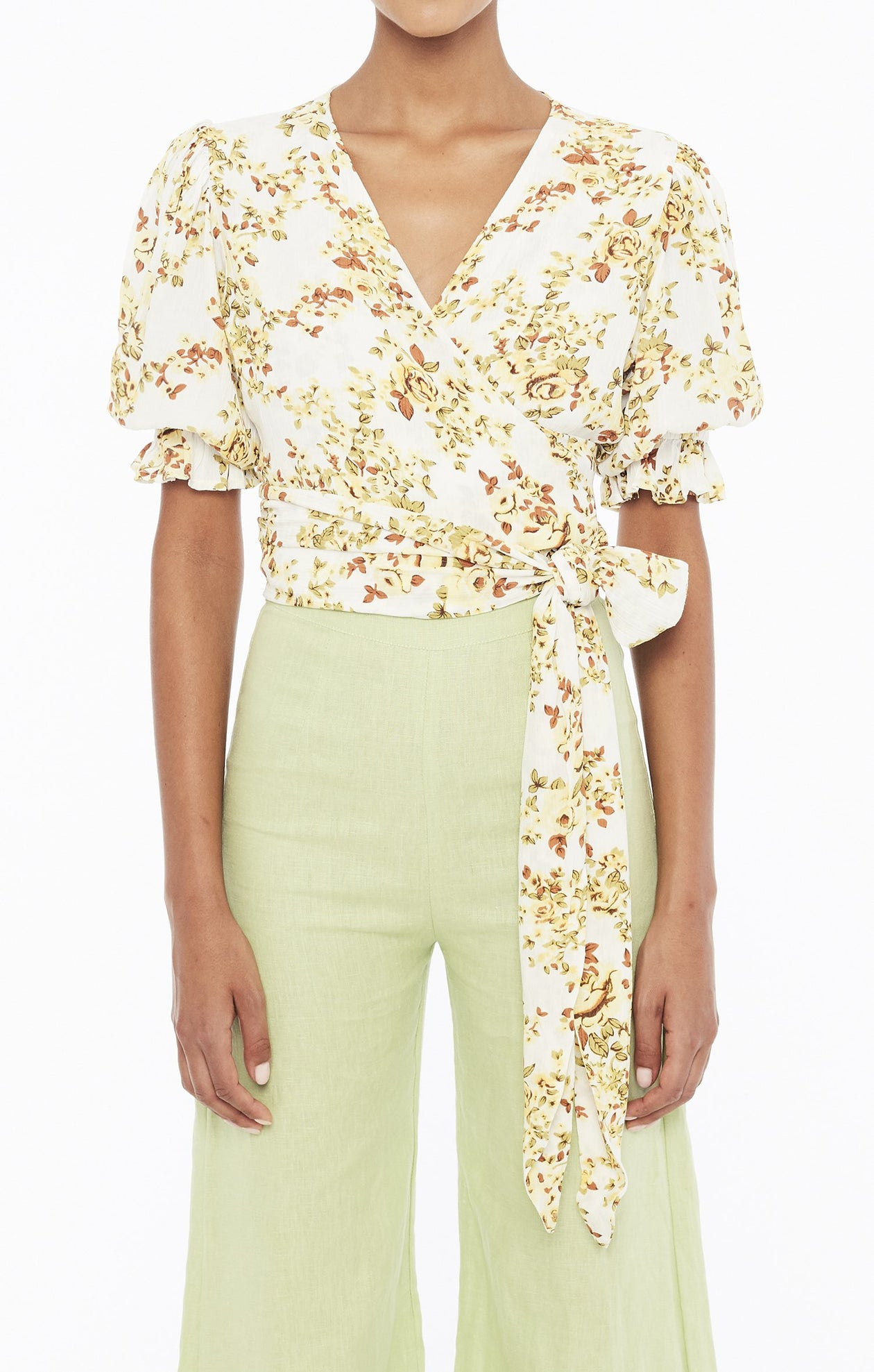 Mali Wrap Top - Goldie Floral