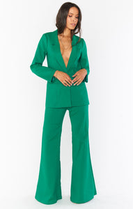 DJ Flare Pant - Green Suiting | Show Me Your Mumu - Holiday/Resort 2020 | Women's Bottoms