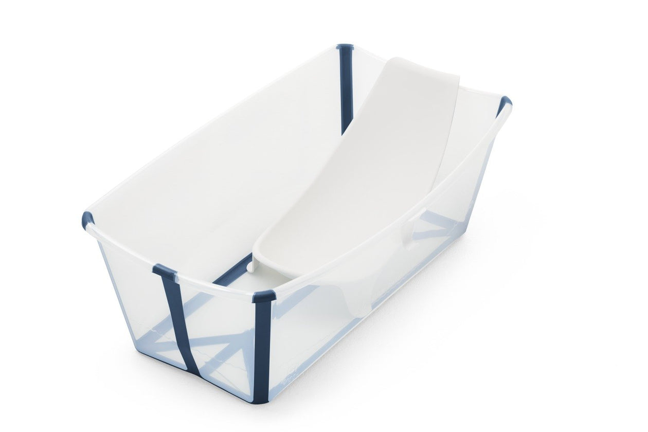 transparent blue baby tub
