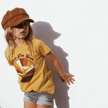 Load image into Gallery viewer, Follow The Sun Tee in Mustard by Suede Daze