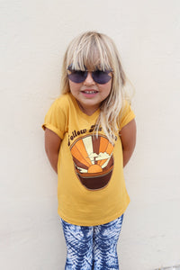 Follow The Sun Tee in Mustard by Suede Daze | Bohemian Mama