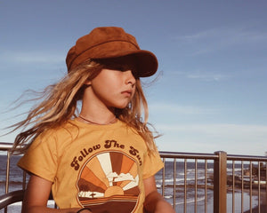 Follow The Sun Tee in Mustard by Suede Daze | Kids