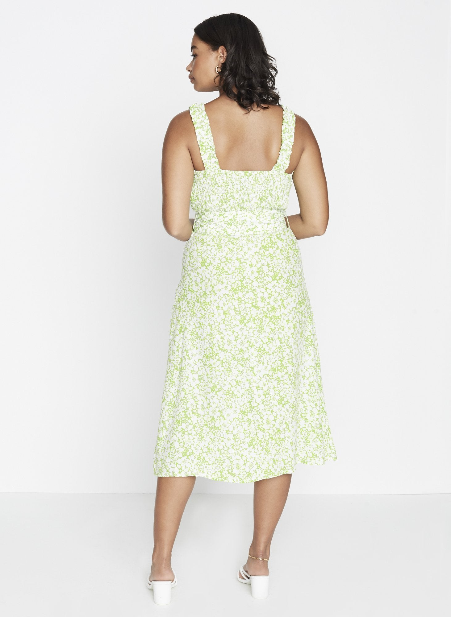 Load image into Gallery viewer, Faithfull The Brand Mae Midi Dress Freja Floral Print | Day Dresses