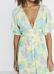 Faithfull the Brand Rafa Midi Dress Lera Floral Print | Button Down Dresses