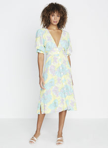 Faithfull the Brand Rafa Midi Dress Lera Floral Print | Pastel Dresses