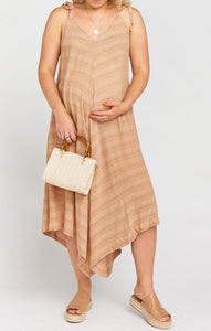 Faithy Faith Jumpsuit in Tan Ripple Gauze by Show Me Your Mumu | Maternity