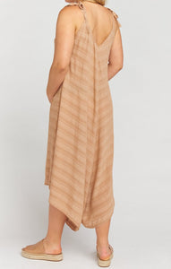 Faithy Faith Jumpsuit in Tan Ripple Gauze by Show Me Your Mumu | Maternty Jumpsuit