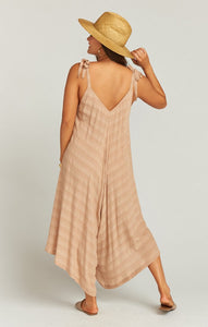 Faithy Faith Jumpsuit in Tan Ripple Gauze by Show Me Your Mumu