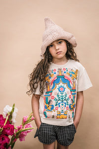 Floral Tee in Cream from Wander & Wonder for Kids