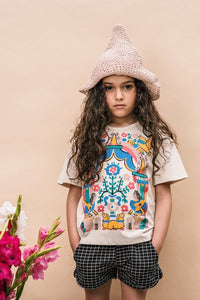 Floral Tee in Cream from Wander & Wonder