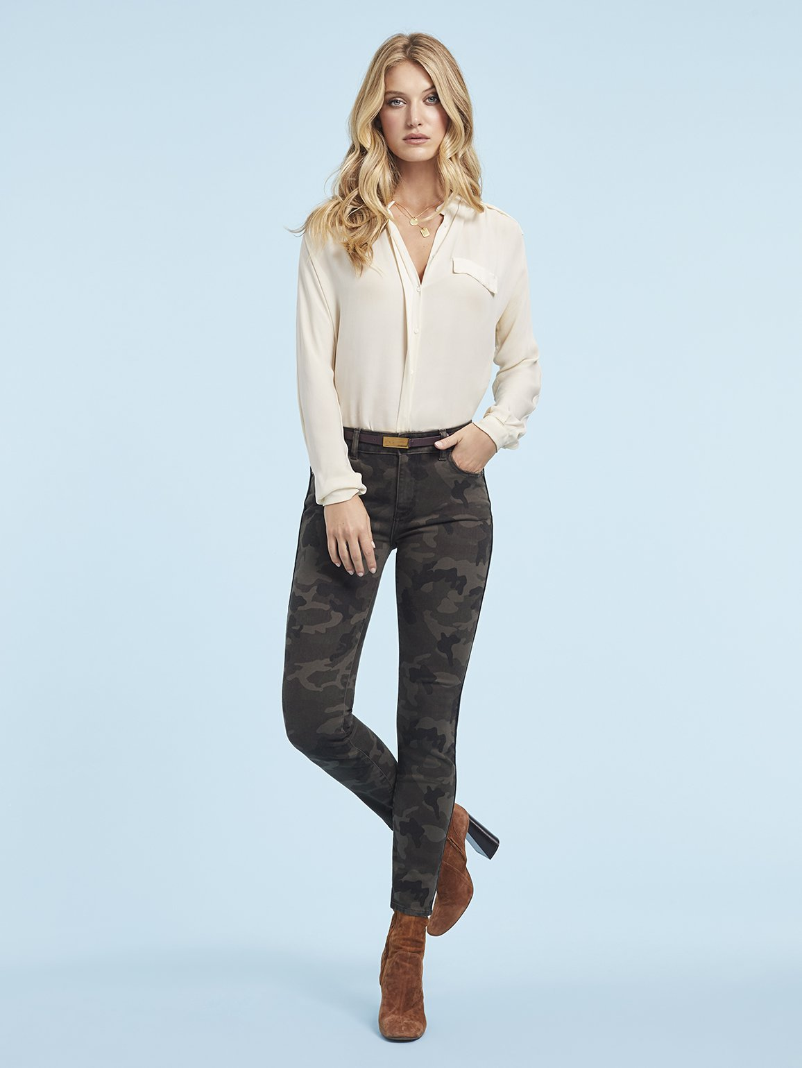 Load image into Gallery viewer, Florence Ankle Mid Rise Skinny - Fort Greene