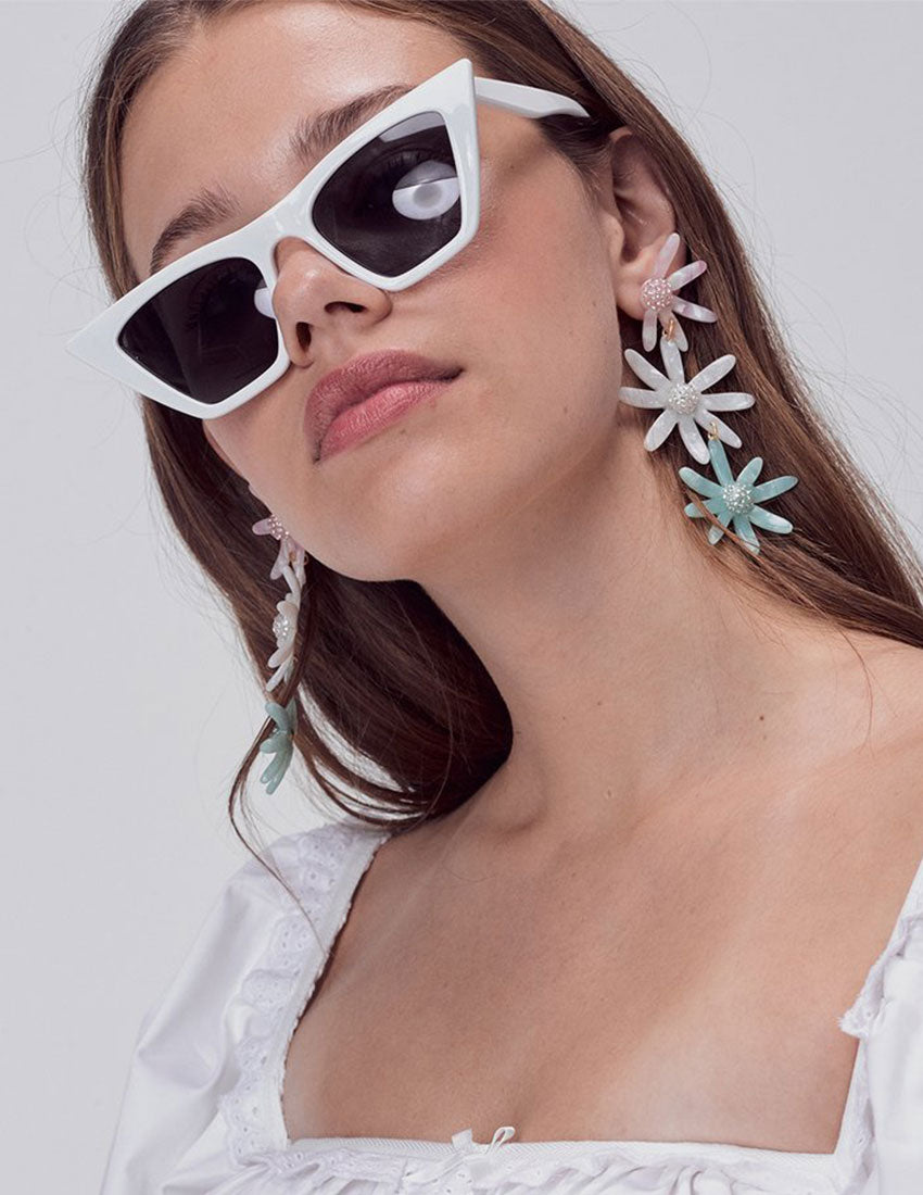 For Love & Lemons Ryder Daisy Earrings Multi | Women's Vintage Jewelry