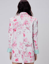 Load image into Gallery viewer, for Love & Lemons Weston Denim Blazer in Pink Floral | Women's Floral Print Blazers